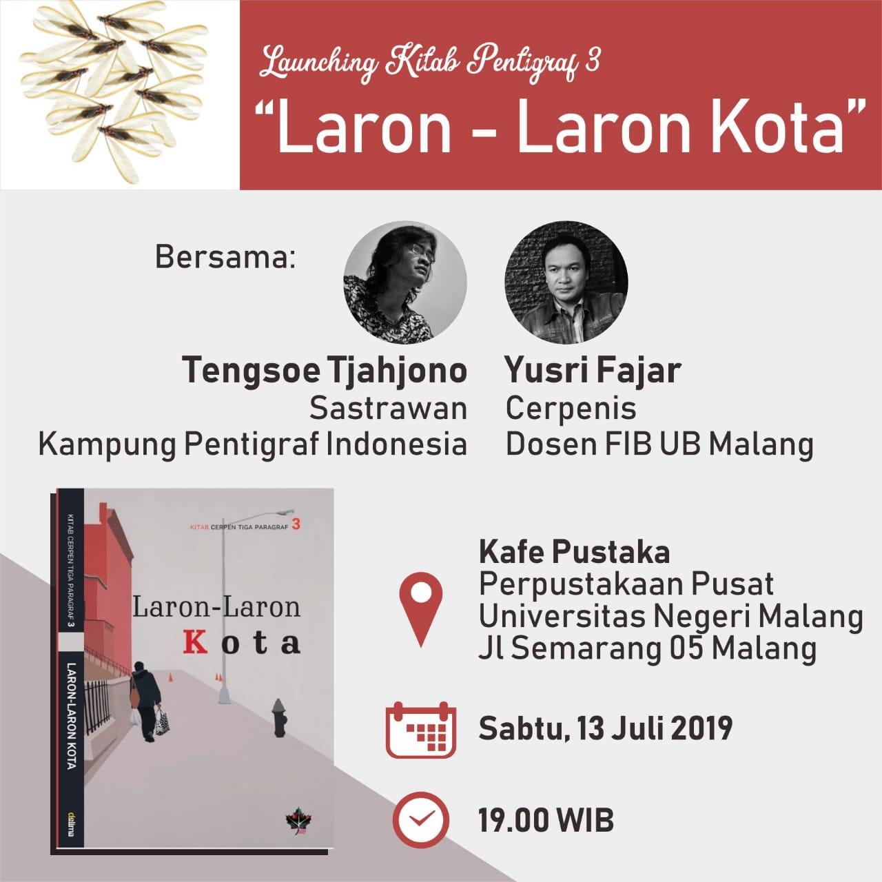 """Launching Kitab Pentigraf 3 """"Laron-Laron Kota"""" - UPT ..."""
